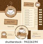 set for the cafe menu  business ...   Shutterstock .eps vector #94226194