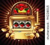 a slot fruit machine with... | Shutterstock .eps vector #94228015