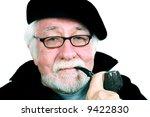 elderly man wearing a beret and ... | Shutterstock . vector #9422830