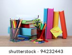 bright stationery  books and ... | Shutterstock . vector #94232443