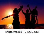 people  two couples  on the... | Shutterstock . vector #94232533
