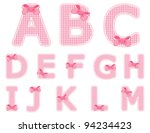 isolated baby girl alphabet set ... | Shutterstock .eps vector #94234423