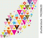 fun triangles background | Shutterstock .eps vector #94238620