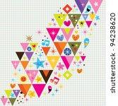 fun triangles background - stock vector