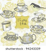 tea background | Shutterstock .eps vector #94243339