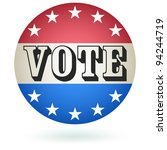 vote badge sign. vector | Shutterstock .eps vector #94244719