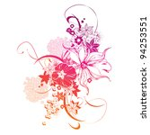 abstract vector floral... | Shutterstock .eps vector #94253551