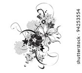 abstract floral elements black... | Shutterstock .eps vector #94253554