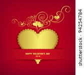 Gold Heart Classic Valentine'...
