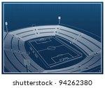 football   soccer stadium 3d... | Shutterstock .eps vector #94262380