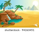 desert oasis  cartoon... | Shutterstock .eps vector #94263451