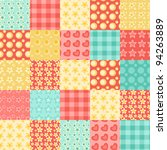 seamless patchwork pattern.... | Shutterstock .eps vector #94263889