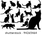 Stock vector cats 94265464