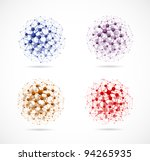 set of colorful molecular... | Shutterstock .eps vector #94265935