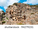 Lycian Rock Cut Tombs In Myra ...