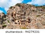 Lycian Rock Cut Tombs In Myra ...