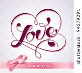 lettering love. for themes like ... | Shutterstock .eps vector #94279291
