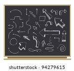 arrows on blackboard | Shutterstock . vector #94279615