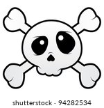 Isolated Skull With Crossbones