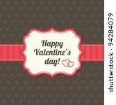 valentines day vintage card | Shutterstock .eps vector #94284079