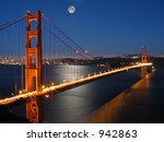Golden Gate Bridge With Moon...