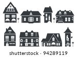 Stock vector vector illustration of europe and american houses 94289119