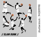 slam dunk silhouette | Shutterstock .eps vector #94289998