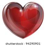 a shiny glossy heart...