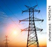 high voltage post.high voltage... | Shutterstock . vector #94295674