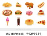 fast food set | Shutterstock .eps vector #94299859