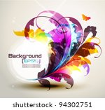 modern colored frame with... | Shutterstock .eps vector #94302751