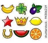 various slot machine fruit... | Shutterstock .eps vector #94306219