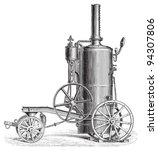 Old Traction Engine   Vintage...