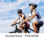 happy carefree mountain bike... | Shutterstock . vector #94310008