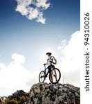 confident mountainbike rider... | Shutterstock . vector #94310026