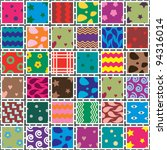 vector patchwork fabric art... | Shutterstock .eps vector #94316014