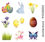 easter icons | Shutterstock .eps vector #94328302