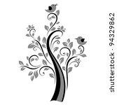 birds on the tree  black  | Shutterstock .eps vector #94329862