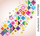 fun squares background - stock vector