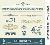 set vectors art nouveau   lots... | Shutterstock .eps vector #94339825