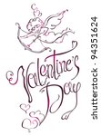 valentine's day type text.... | Shutterstock .eps vector #94351624