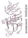 valentine's day type text.... | Shutterstock .eps vector #94351624
