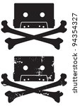 cassette tape skull and... | Shutterstock .eps vector #94354327