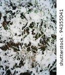 snowy plants in england. | Shutterstock . vector #94355041