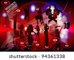 card for a disco. vector | Shutterstock .eps vector #94361338
