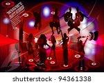 card for a disco. vector | Shutterstock .eps vector #94361338