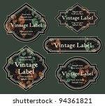 set of vintage labels | Shutterstock .eps vector #94361821