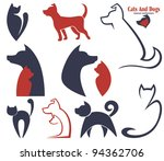 Stock vector my favorite pet vector collection of animals symbols 94362706