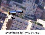binoculars view of Monaco - stock photo