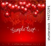 valentine's day vector card... | Shutterstock .eps vector #94372291